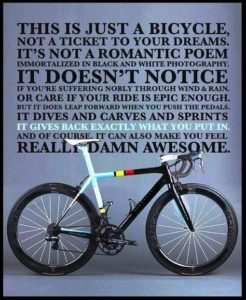 Bikes Make you feel awesome